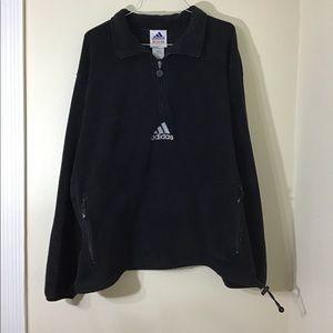 Vintage 90s Adidas Fleece Pullover Quarter Zip